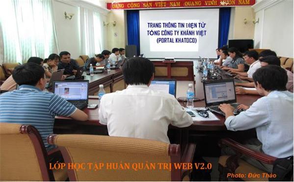 Khai giảng lớp tập huấn QT Website cho các quản trị Web tại TCT Khánh Việt
